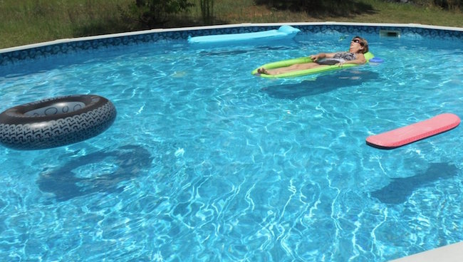Pool with floats