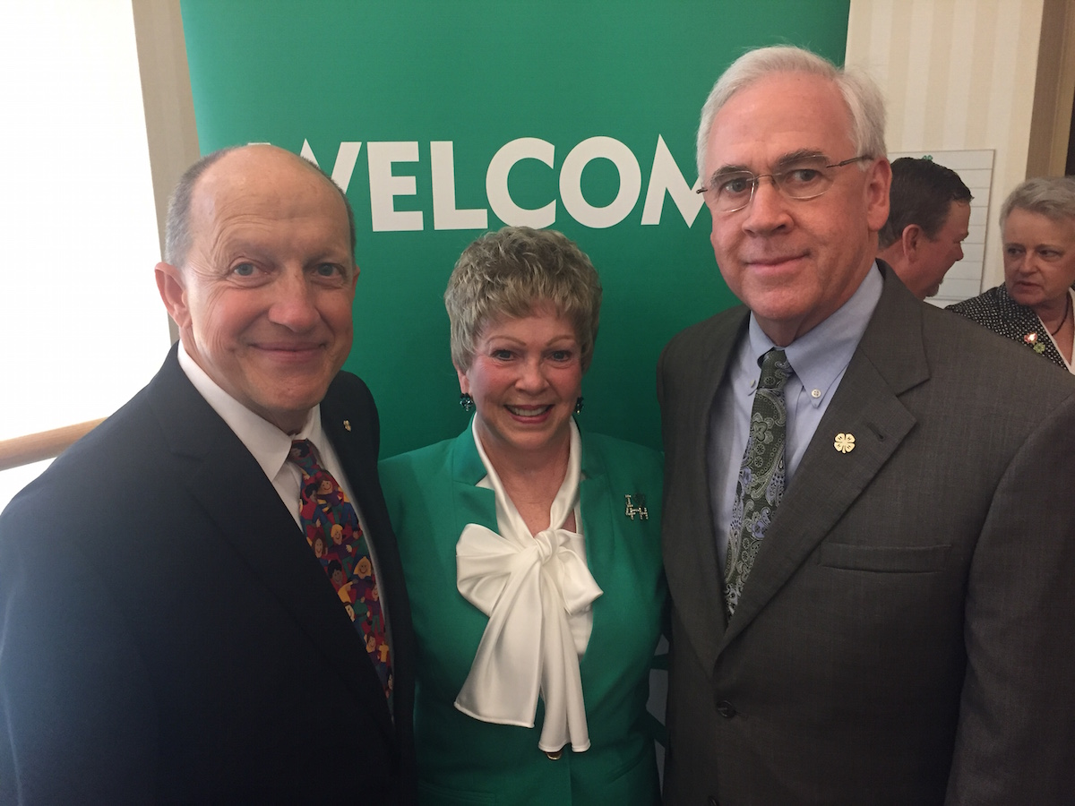 Former Georgia 4-H State Leader Bo Ryles, Grady County 4-H volunteer extraordinaire Yvonne Childs and current Georgia 4-H State Leader Arch Smith at an awards ceremony at National 4-H Council in Chevy Chase, Maryland.