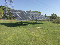 Solar panels used by poultry houses in south Georgia.