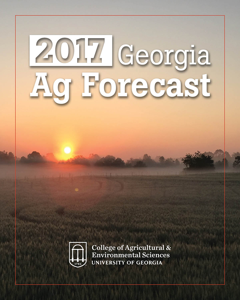 The Georgia Ag Forecast seminar series will be held Jan. 18-27. University of Georgia agricultural economists will present insights into the latest market and regulatory conditions for the state's largest industry.   Hosted by the UGA College of Agricultural and Environmental Sciences, the 2017 seminar series will be held in Macon, Marietta, Carrollton, Tifton, Bainbridge, Lyons, Waynesboro and Athens. Registration for the series is now open at georgiaagforecast.com.