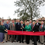 Governor Nathan Deal and first lady Sandra Deal cut the ribbon to open Camp Jekyll along with 4-H staff members, local 4-H'ers, state 4-H officers and Jekyll Island Authority board members on Dec. 5, 2015.