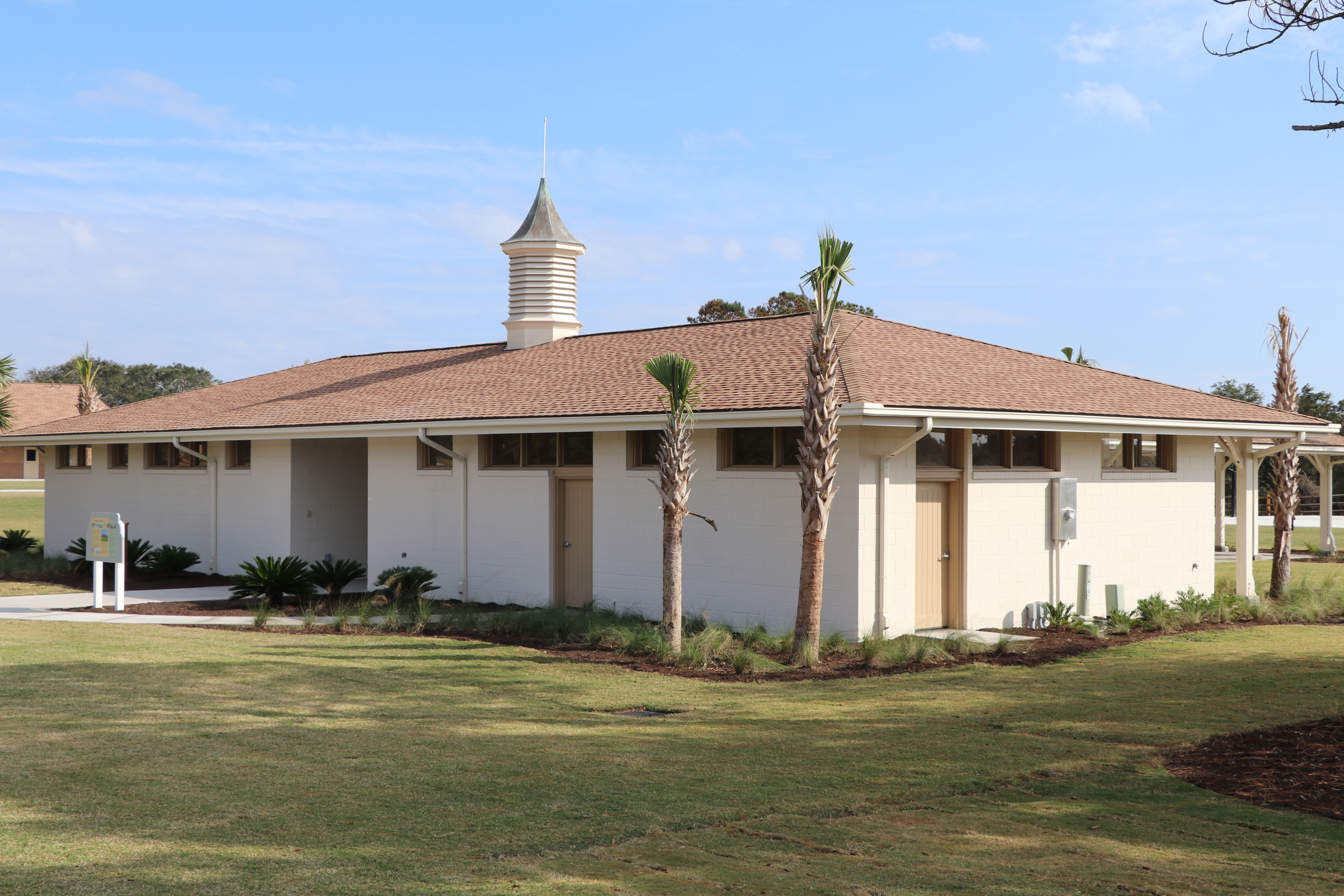 The Camp Jekyll Historic Pavilion is the only structure that was saved and restored from the original facility on the site. Built in 1955, it welcomed African Americans to the segregated beach as a place to congregate and picnic. It was later used as the 4-H center's canteen and gift shop.
