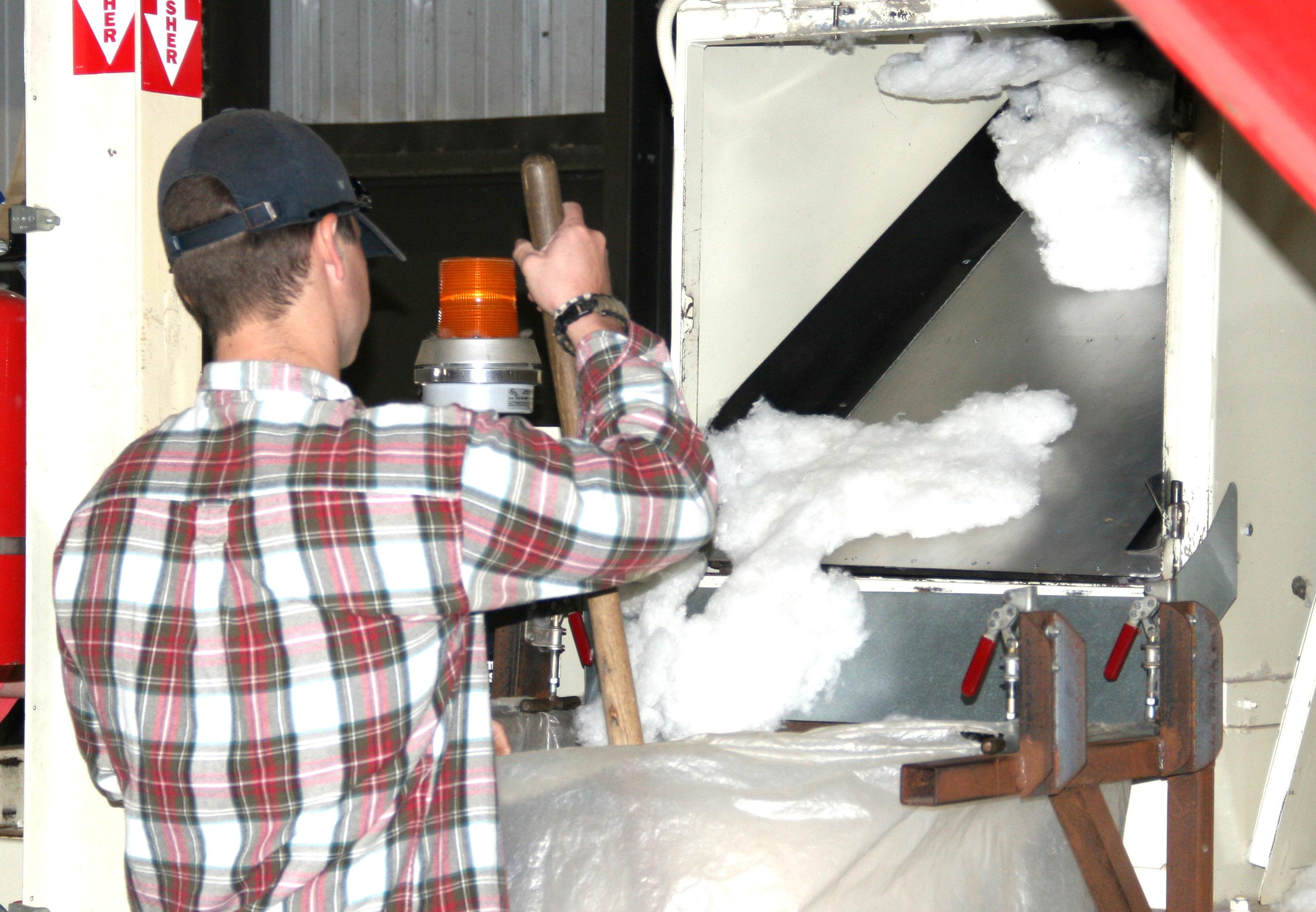 Cotton sampling is done at the UGA Tifton microgin.