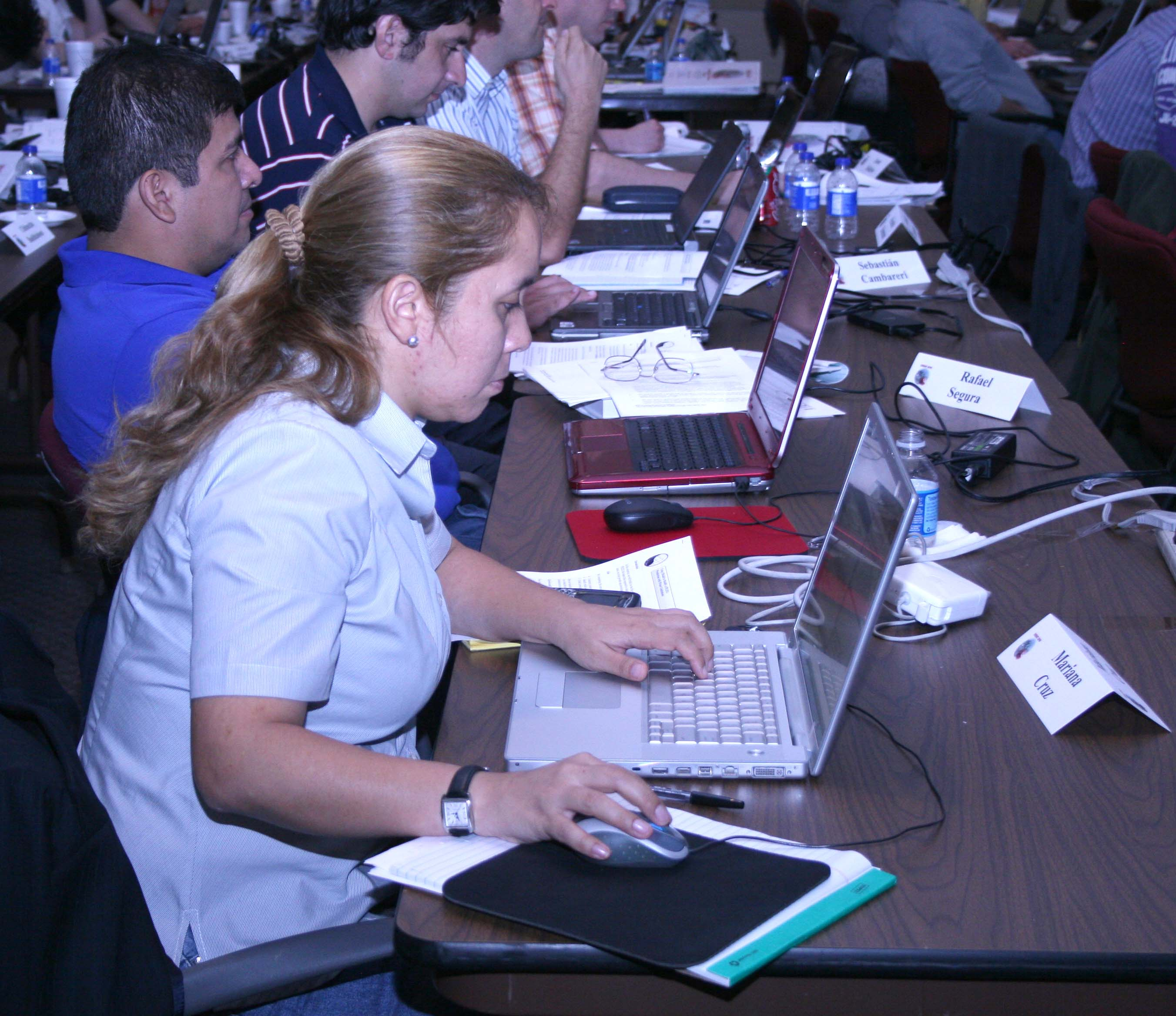 Mariana Cruz of the International Potato Center in Lima, Peru, is shown participating in the DSSAT training workshop held this month. She was one of more than 75 international visitors who travelled to the UGA Griffin Campus for the training.