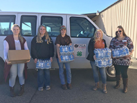 Worth Couny 4-H members help with storm aid./Lauren Burden-UGA Extension