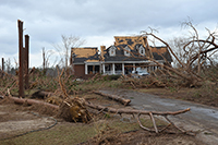 Worth County home damaged by the storms./Albany Herald