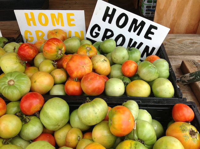 Homegrown tomatoes are one of the most popular fruits available at roadside produce stands.