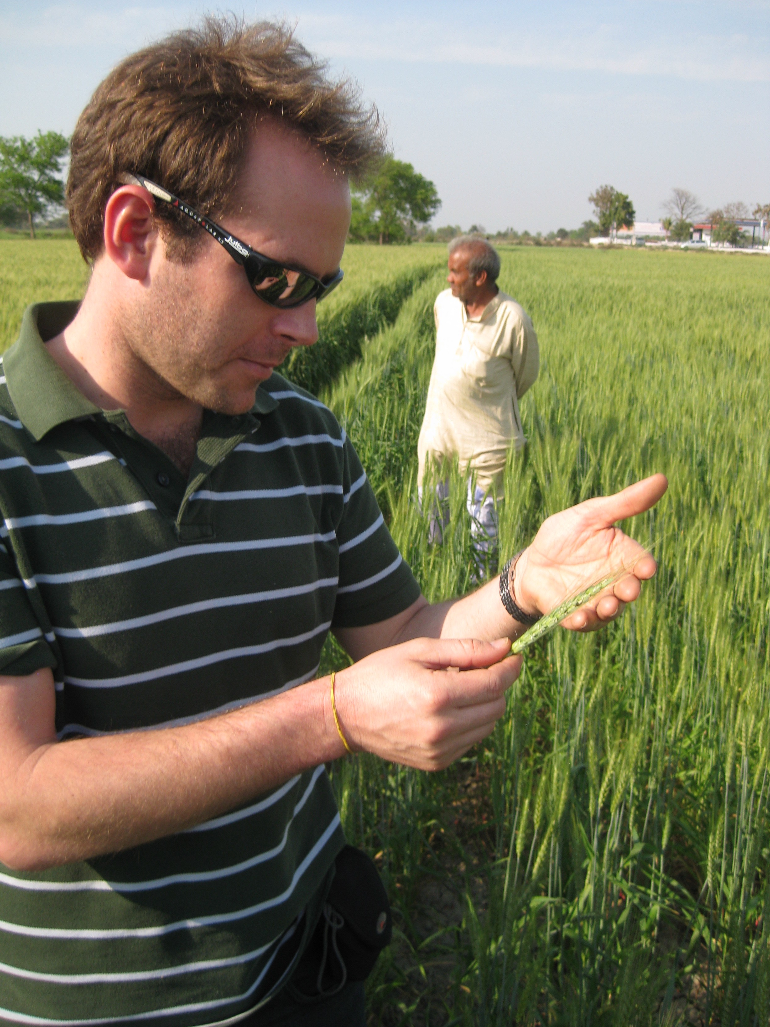 Nick Magnan conducts field work in Uttar Predesh in northern India.