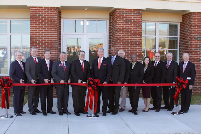 University leadership and state and local officials gathered Monday, Jan. 31, 2017, to officially cut the ribbon signifying the opening of the Food Product Innovation and Commercialization building on the University of Georgia campus in Griffin, Georgia.
