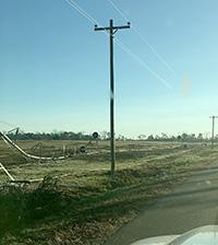A damaged irrigation pivot in Thomas County, Georgia. Credit: Jim Rayburn