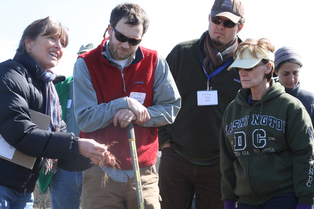 University of Georgia organic horticulture expert Julia Gaskin will lead a session on selecting and managing cover crops during this year's Georgia Organics Conference. Participants will learn how to choose the right cover crop combinations to meet specific goals through production-rotation scenarios. Gaskin is shown teaching participants about soil composition at the 2011 Georgia Organics Conference.