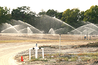 Irrigation pivots are being used on the UGA Tifton Campus.