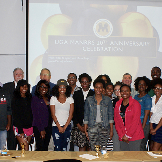 The UGA College of Agricultural and Environmental Sciences chapter of Minorities in Agricultural, Natural Resource and Related Sciences (MANRRS) celebrates the chapter's 20th anniversary.