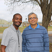 Aggrey Gama, a Malawian doctoral student at the University of Georgia, advised by professor Koushik Adhikari, is working to develop a peanut-based drink that would give consumers in southern Africa a new, nutritious beverage. (Photo by Allison Floyd)