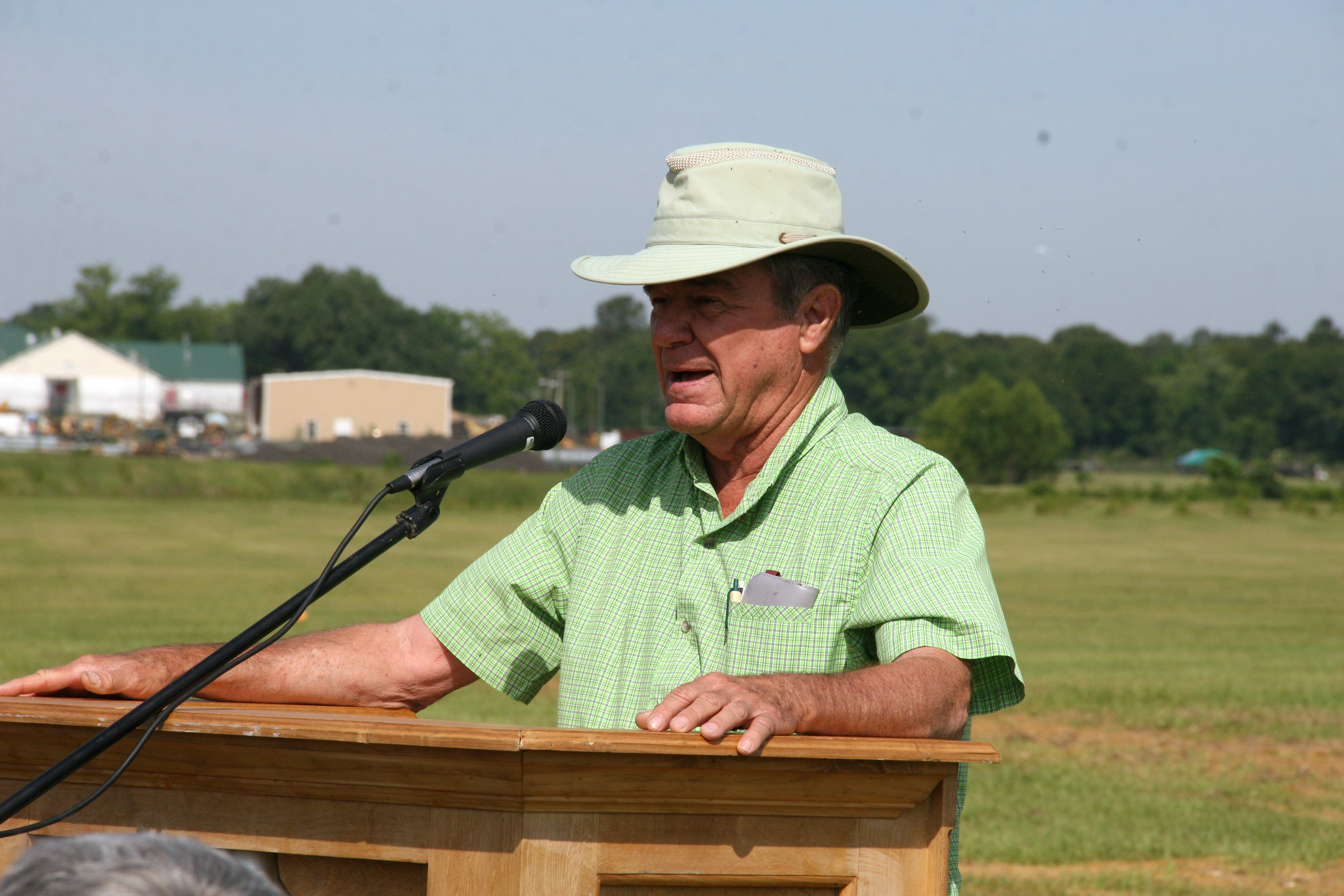 UGA scientist Wayne Hanna speaks about citrus tree research.