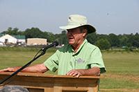 UGA scientist Wayne Hanna speaks about citrus tree research.