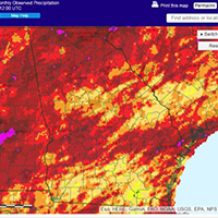 Much of Georgia received 1 to 6 inches more rain than usual during this rainy May.