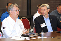 CAES Dean Sam Pardue, left, and COE Dean Donald Leo at the Tifton, Georgia listening session.