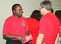 UGA-Tifton professors Greg Fonsah and George Vellidis during the ShowCAES event in 2016.