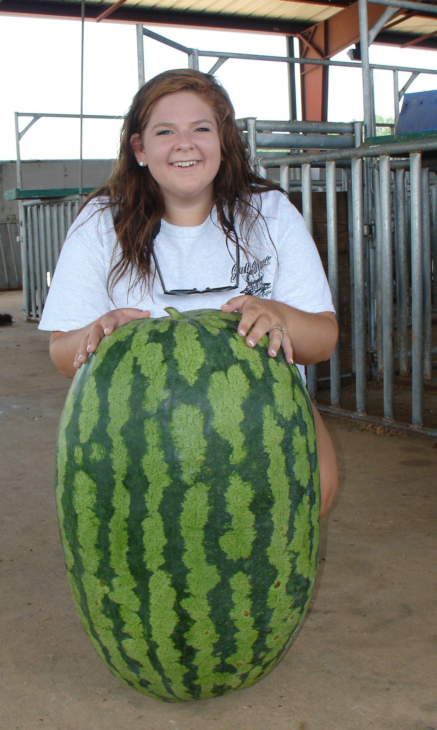 Kellee Alday won third place in 2015 in the Georgia 4-H Watermelon Growing Contest. Her melon weighed in at 109-pounds.