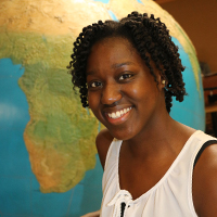 This spring, Samaria Aluko became the first recipient of the college's Broder-Ackermann Global Citizen Award. CAES Associate Dean for Academic Affairs Josef Broder and his seven siblings endowed the annual $1,000 award in spring 2017 in honor of their parents, Hans Broder and Margrit Ackermann.