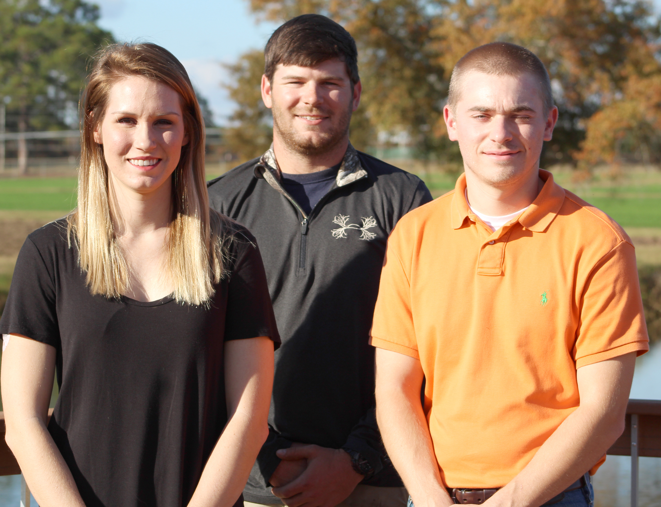 Nan Bostick, Garrett Brown and David Sutherland are among the students graduating from the UGA Tifton campus this month.