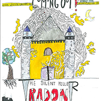 Charlotte Moser, a seventh-grader from Clarke Middle School in Athens, Georgia, won first place for her horror movie-inspired poster of a radon cloud enveloping a castle in the 2017 poster contest held by University of Georgia Cooperative Extension's Radon Education Program.