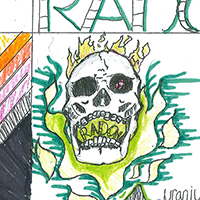 Jeff Peek, an eighth-grader from Stockbridge Middle School in Stockbridge, Georgia, won second place for his hauntingly informative poster featuring a realistic skull in the 2017 poster contest held by University of Georgia Cooperative Extension's Radon Education Program.