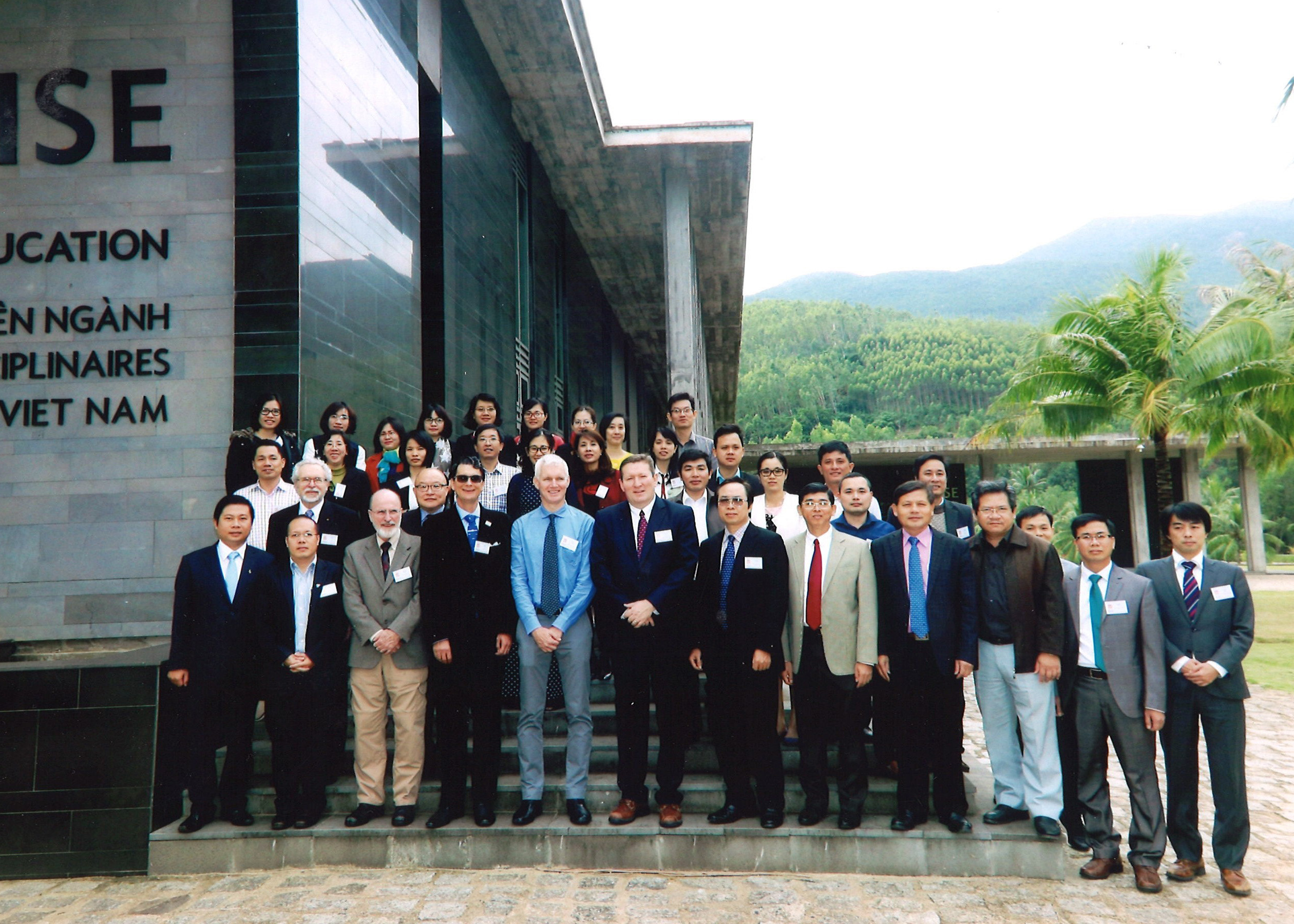 Mickey Taylor, front row, third from left, coordinates the Georgia's Pesticide Safety Education Program (PSEP) through University of Georgia Cooperative Extension. He recently attended a conference in Qui Nhon, Vietnam, where he discussed best practices for implementing pesticide regulation and education programs in emerging economies.