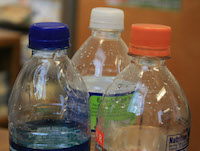 """When stocking your emergency food supply with water, University of Georgia Cooperative Extension experts say buying water is the safest option. Store-bought water is typically sealed and is marked with a """"best by"""" date or expiration date."""