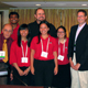 The winning University of Georgia team stand with professor Rob Shewfelt, far left, and assistant professor Ron Pegg. They are, left to right, Amudhan Ponrajan, Winnie Lim, George Cavender, Jessica Highsmith and Kathryn Acosta.