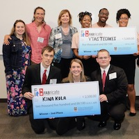 VTasteCakes, a company founded by agricultural communication major Ayodele Dare and food industry marketing and administration majors Jasmyn Reddicks and Tatyana Clark, won first place in FABricate's final pitch contest on March 29.