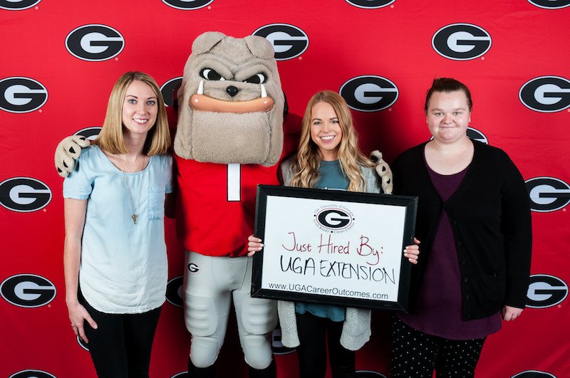 Graduating seniors Gracie Row (left to right), Meghan Mitchell and Brittany Clark, from UGA, will participate in the 2018 UGA Extension summer internship program. Row and Mitchell will work in the 4-H programs in their respective counties, and Clark will work in the Agriculture and Natural Resources program.