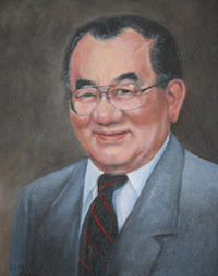 During a remembrance ceremony, a portrait of Tommy Nakayama, painted by Griffin, Georgia, artist Jennifer Edwards, was unveiled. Nakayama is a former head of the UGA Department of Food Science and Technology. His portrait will hang in the UGA Center for Food Safety on the university's Griffin campus alongside images of food science department heads who preceded Nakayama. A 'Thunderhead' Japanese black pine tree was also planted in the garden in honor of Nakayama and his heritage. Nakayama's wife (L) and sister are shown unveiling the portrait.