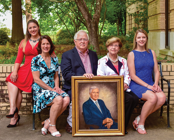 A gift from the Pulliam family will create an endowed chair position in honor of Pulliam family patriarch H.M. (Morris) Pulliam. The family has deep roots at UGA. Left to right: Anna Kate Pulliam is a 2018 math education alumna of UGA. Amy Pulliam is working toward a master's degree in education with an anticipated graduation date of 2019. Dr. Michael Pulliam, who graduated with a zoology degree in 1961, and his wife, Elaine, elected to fund the endowed chair. Grace Pulliam, a current UGA student, majors in genetics and music and she plans to graduate in 2022.