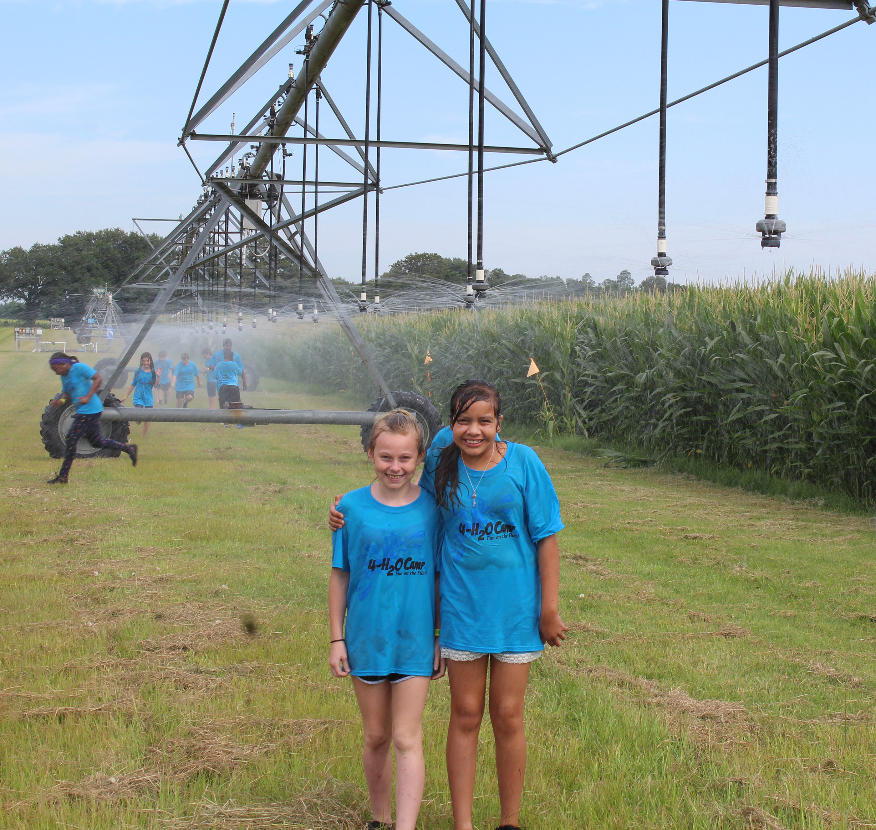 4-H members enjoyed a trip to UGA's Stripling Irrigation Research Park for 4-H20 camp on Wednesday, June 6.