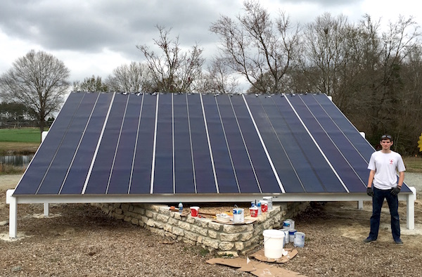 Two additional solar panels have been installed at the Future Farmstead this year as part of a project by Eagle Scout Bailey Veeder. The home is a water- and energy-efficient research home on the University of Georgia Tifton campus.