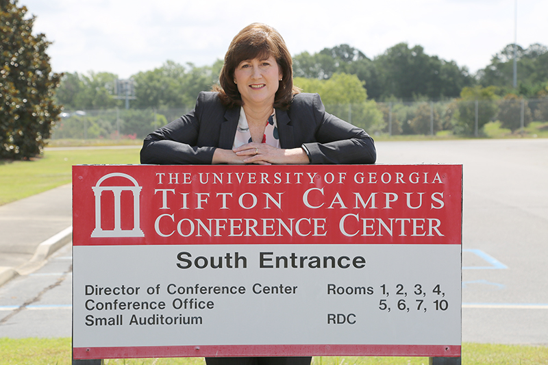Andrea Scarrow pictured at the UGA Tifton Campus Conference Center.