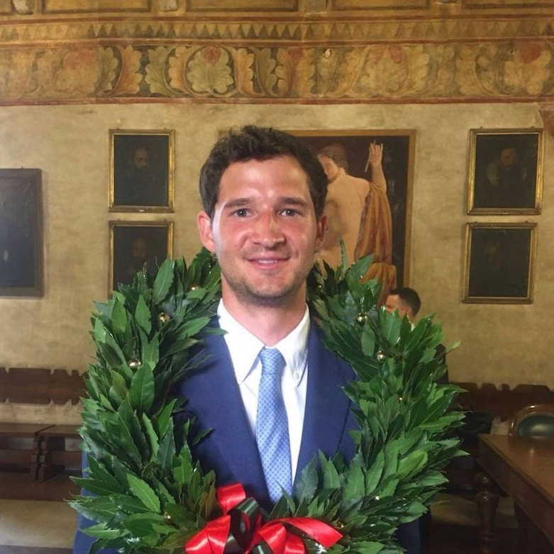 Logan Moore is the first graduate of a new dual master's degree program in sustainable agriculture from the UGA College of Agricultural and Environmental Sciences (CAES) and UNIPD in Italy. He now holds master's degrees from both universities.