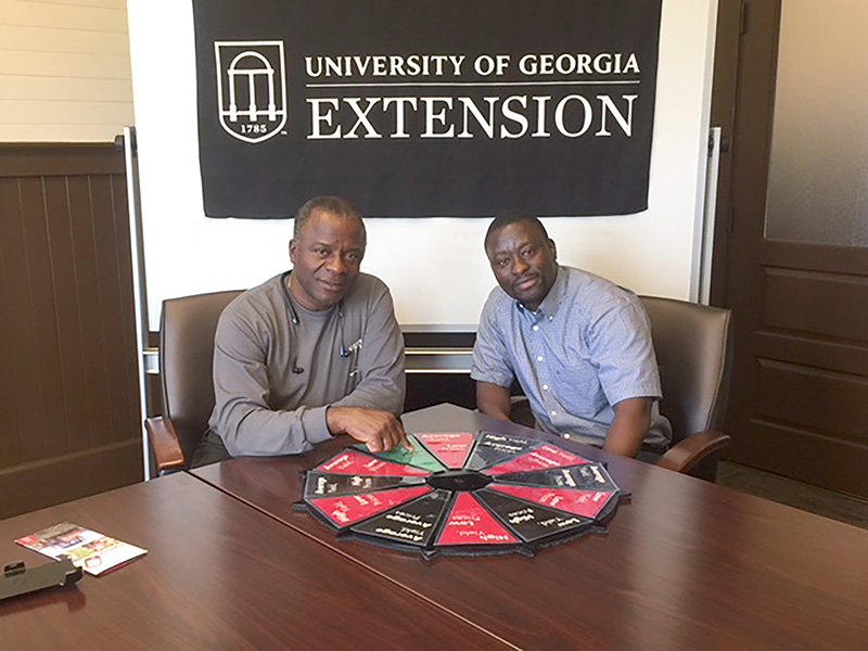 Greg Fonsah (left), University of Georgia Tifton campus professor, will lead Auxence Muhigwa Akonkwa, a Fellow visiting UGA-Tifton from the Democratic Republic of Congo, in banana research. Akonkwa is taking part in Fonsah's research through the Mandela Washington Fellowship for Young African Leaders program.