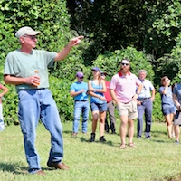 Matt Chobanian, vineyard manager at Habersham Winery and Vineyards, describes the different varieties grown at Habersham's Stonepile Vineyards.