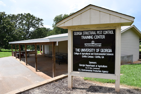 The Georgia Structural Pest Control Training Facility is located on the University of Georgia's campus in Griffin, Georgia. The facility was built to train and educate pest management professionals, regulatory inspectors and Cooperative Extension personnel on the biology and management of pests in the home, business and school environments.