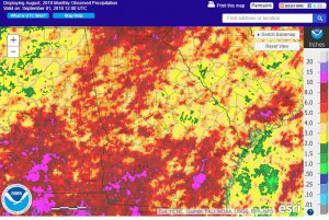 Rainfall during August was heavier than normal over the western half of the state and lighter over the eastern half.