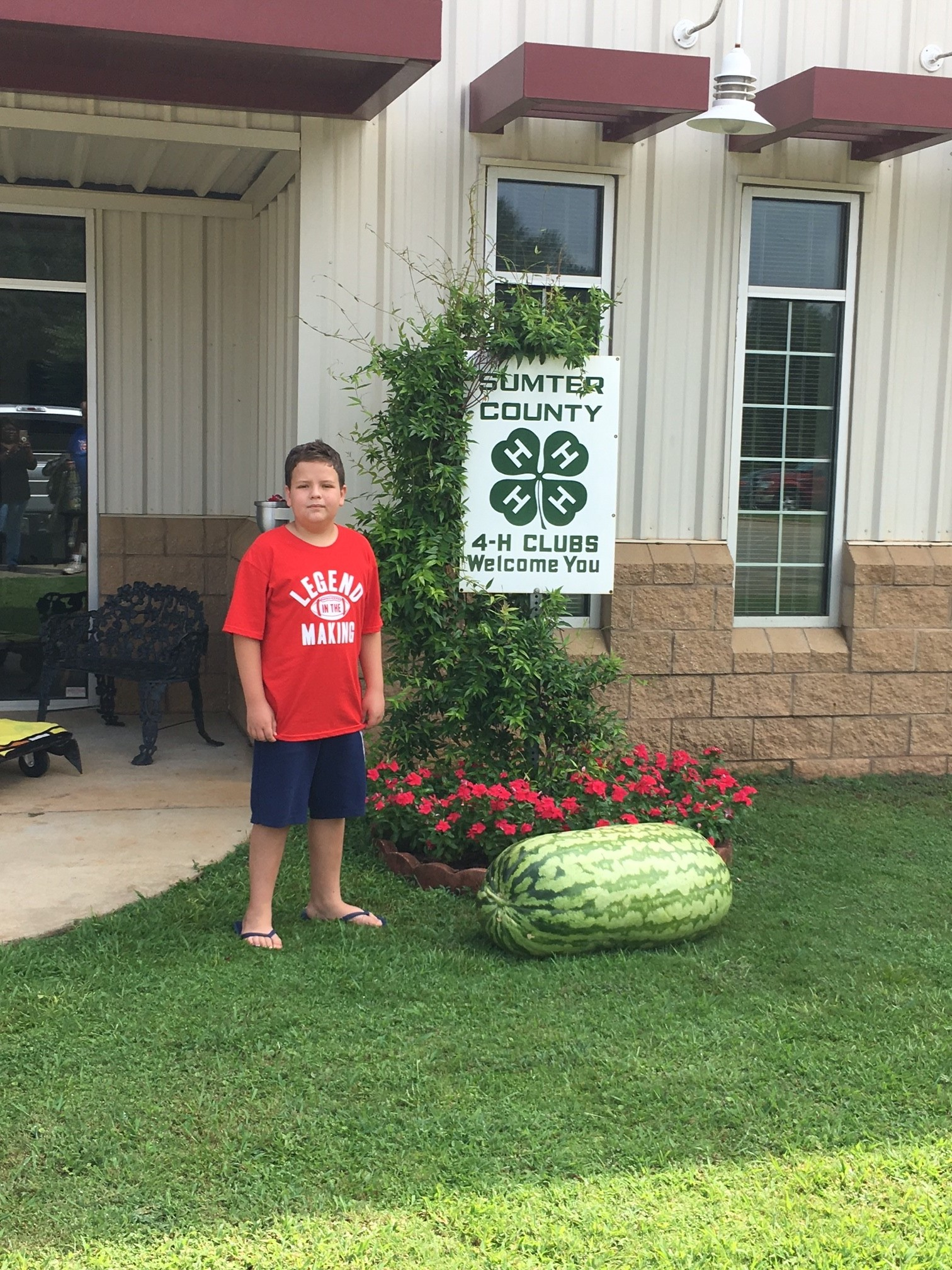 John Gorton of Sumter County has won the Georgia 4-H 2018 Watermelon Growing Contest with at 168.6-pound melon.