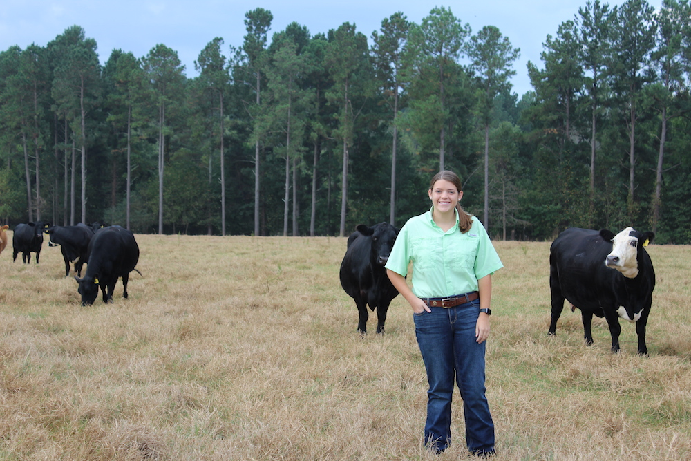 Cassie Powell, who transferred to the UGA College of Agricultural and Environmental Sciences this fall, is participating in the CAES Food Animal Veterinary Incentive Program.