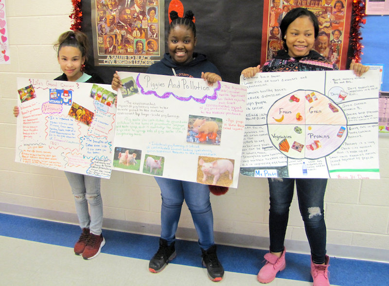 Georgia 4-H members learn valuable public speaking skills through District Project Achievement. Students, like these Taliaferro County girls, research a topic and then present their findings to an audience of their peers.