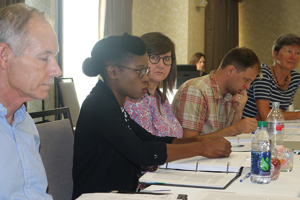 Peanut Institute Research Director Dr. Samara Sterling speaks about a proposed project at a September 2018 meeting of the External Advisory Panel in Savannah, Ga. (Photo by Allison Floyd)