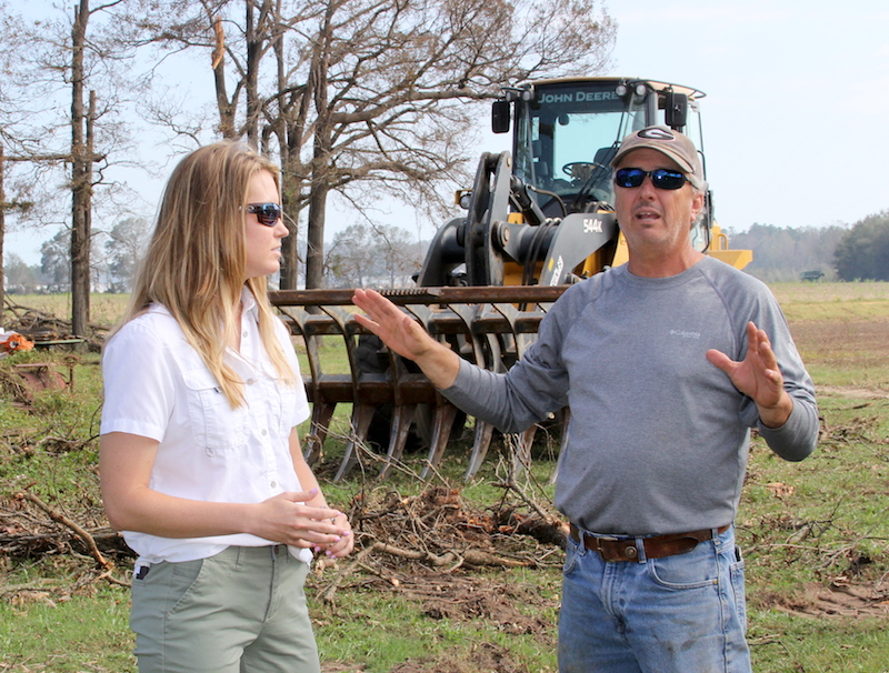 "Decatur County farmer Bobby Barber, Jr., tells local University of Georgia Cooperative Extension Nan Bostick about the day Hurricane Michael struck his farm. Bostick joined the Extension office last spring says the farmers in her county have shown her that they are resilient, positive, and are going to start over and do everything they can to be even better. ""We might be bruised, but we are not broken,"" she said."