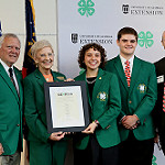 Governor Nathan Deal and First Lady Sandra Deal (left) pose with Georgia 4-H'ers Sophia Rodriguez and Hamp Thomas (center) and Judge William (Billy) Ray, II, Georgia 4-H Foundation Trustee and anchor sponsor of the newly created endowment named in honor of Gov. and Mrs. Deal.