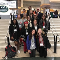 Eric Rubenstein, assistant professor of agricultural leadership, education and communication in UGA's College of Agricultural and Environmental Sciences, helped his agricultural education students gain a teacher's perspective on the National FFA Convention and Expo by taking his class to the event.